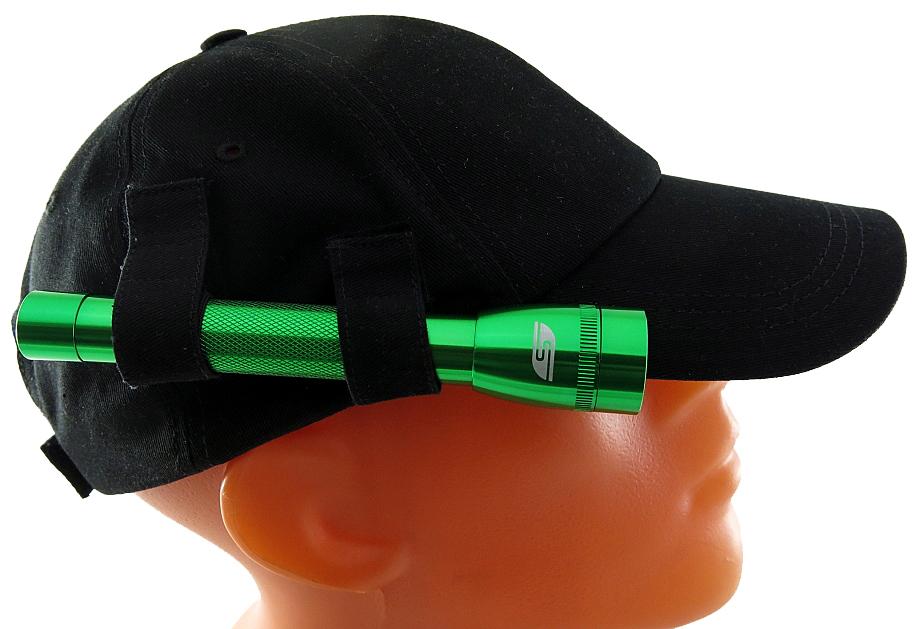 Фонарь SolarisF-5 NG, с бейсболкой, цвет: зеленый, черный