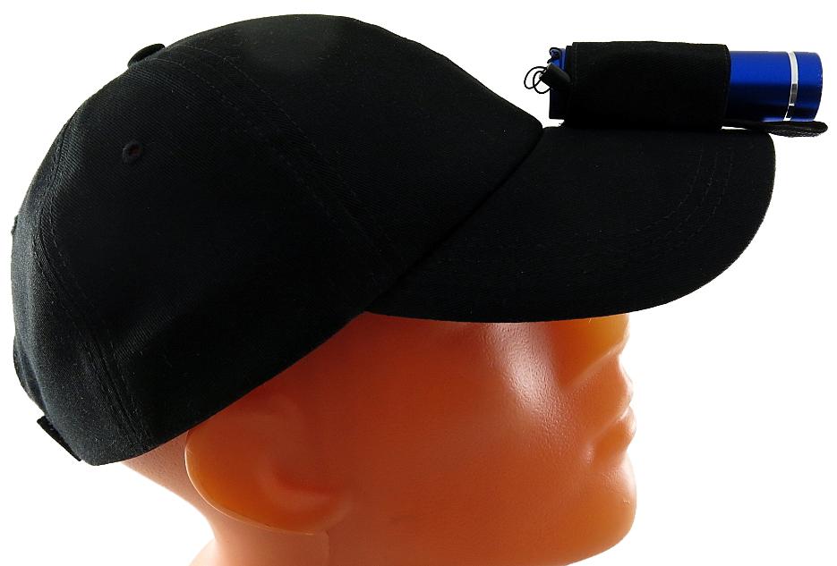 Фонарь SolarisT-5 NBL, с бейсболкой, цвет: синий, черный