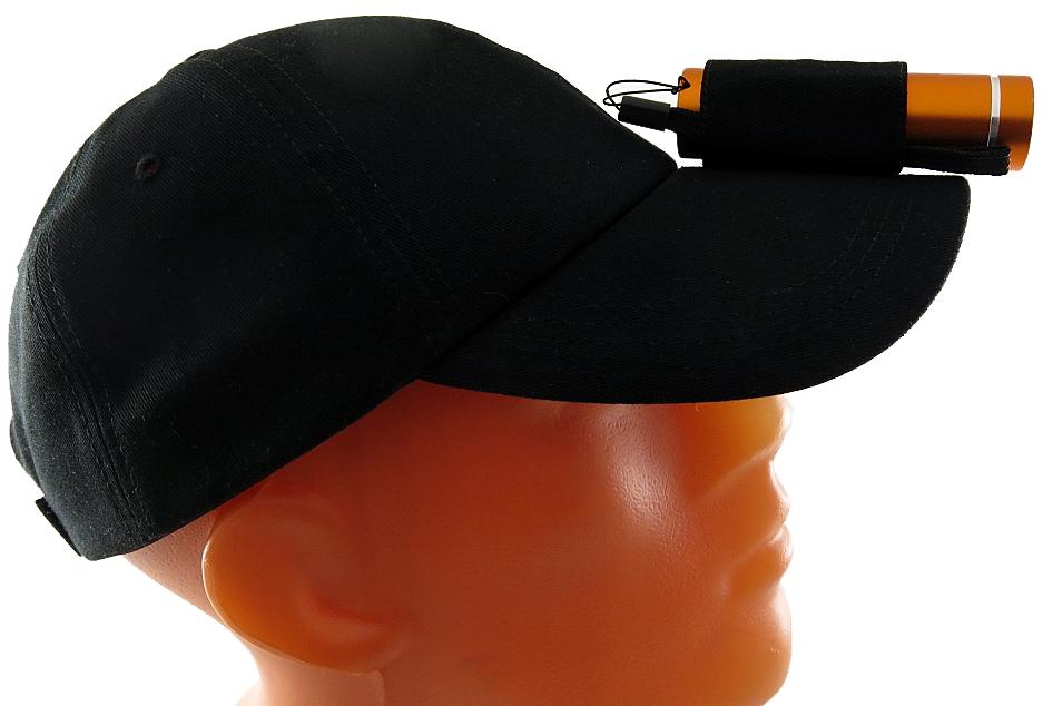 """Фонарь Solaris""""T-5 NO"""", с бейсболкой, цвет: оранжевый, черный"""