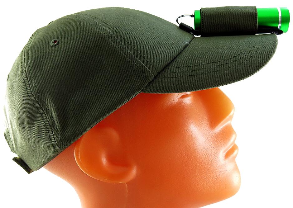 """Фонарь-бейсболкаSolaris """"T-5 OG"""", цвет: зеленый, оливковый"""