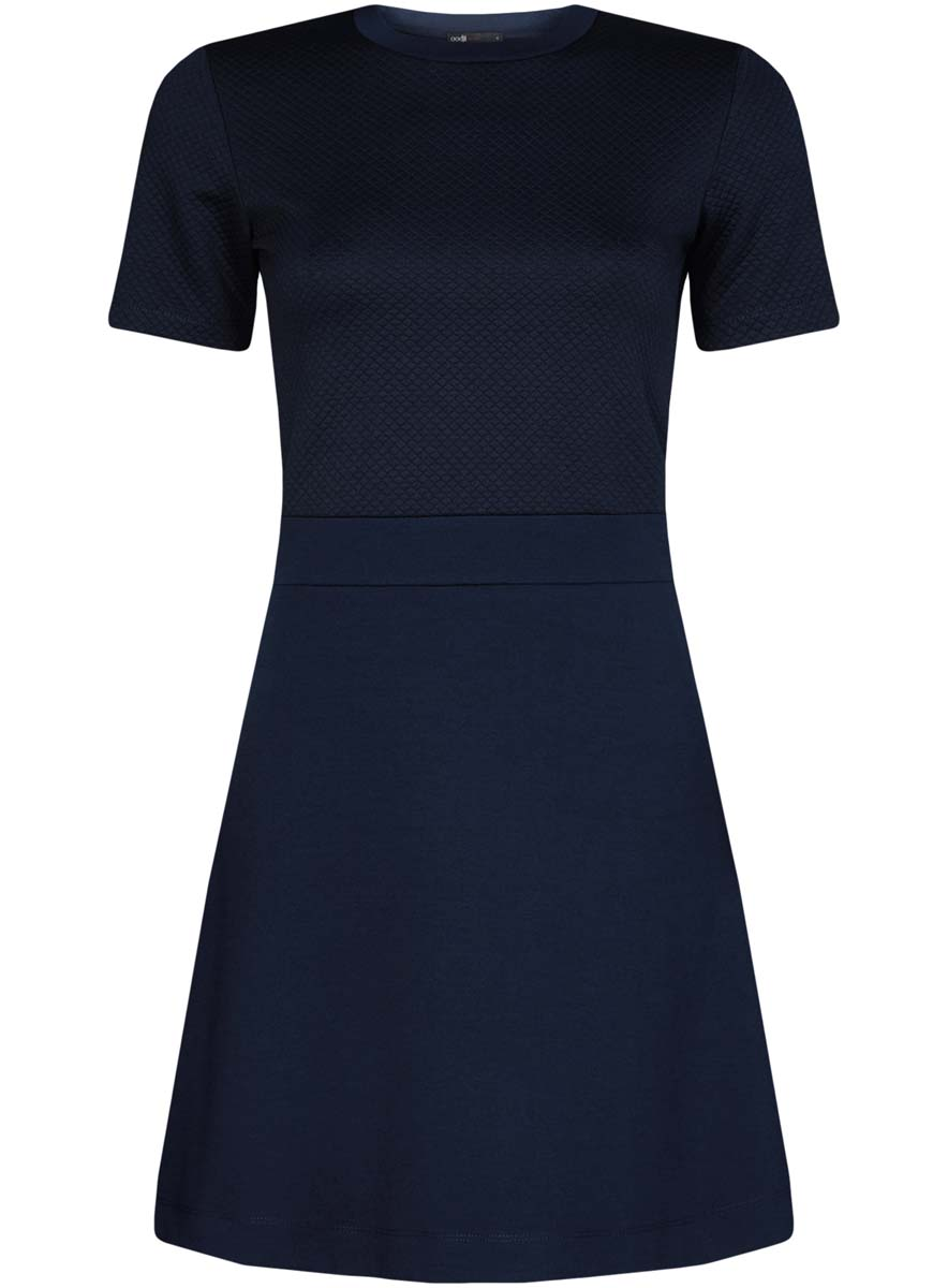 Платье oodji Ultra, цвет: темно-синий. 14000161/42408/7900N. Размер XXS (40) пуловеры oodji пуловер