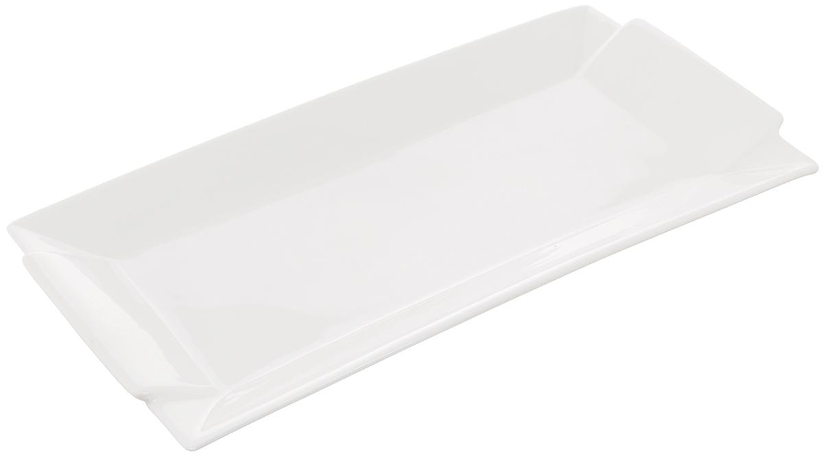 Блюдо Wilmax, прямоугольное, 34 х 18 смWL-992647 / AБлюдо Wilmax прямоугольной формы изготовлено из высококачественного фарфора, покрытого слоем глазури. Изделие предназначено для подачи горячих блюд, нарезок, закусок, канапе, а также различных сладостей. Такое блюдо пригодится в любом хозяйстве, оно подойдет как для праздничного стола, так и для повседневного использования. Блюдо функциональное, практичное и легкое в уходе. Изделие можно мыть в посудомоечной машине и ставить в микроволновую печь.