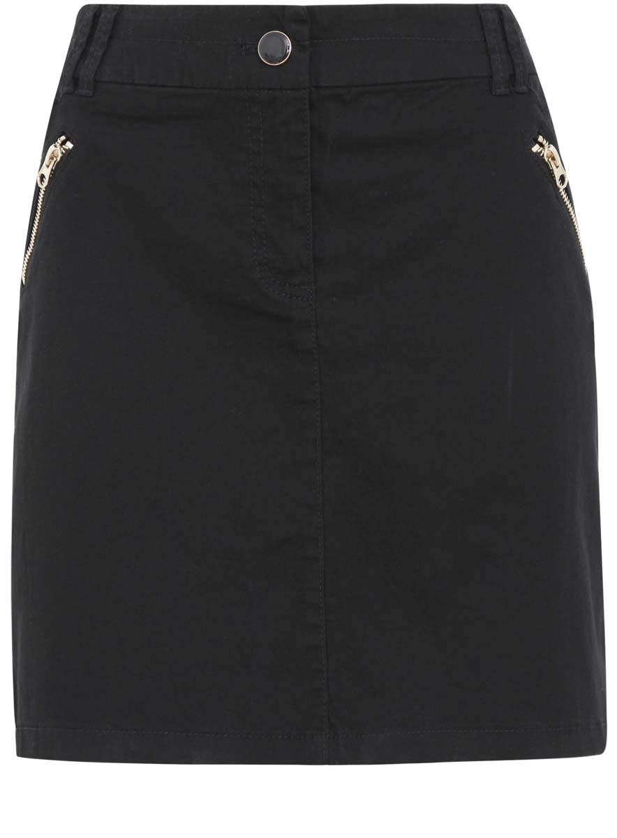Юбка oodji Collection, цвет: черный. 21600288/24770/2900N. Размер 46 (52-170) ivi collection мини юбка