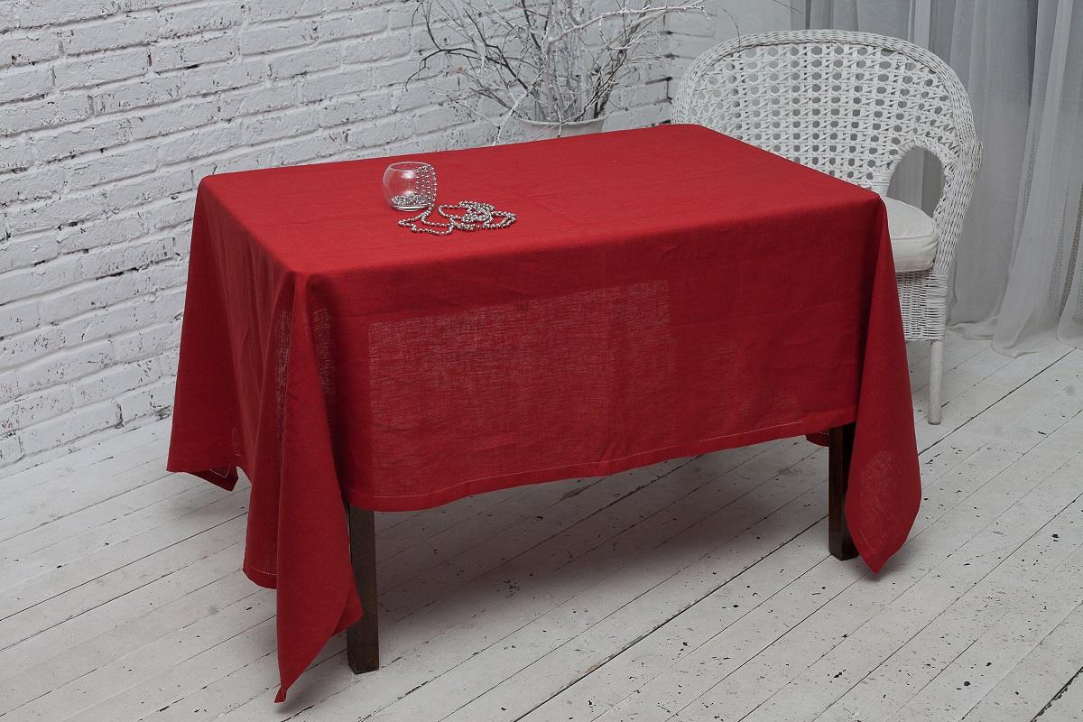 Скатерть Гаврилов-Ямский Лен, прямоугольная, цвет: бордовый, 140 x 250 см скатерть гаврилов ямский лен прямоугольная цвет бирюзовый 140 х 180 см