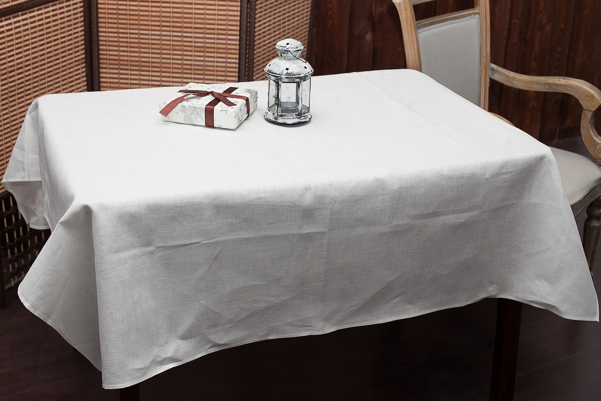 Скатерть Гаврилов-Ямский Лен, прямоугольная, цвет: белый, 144 x 150 см5со3968Скатерть Гаврилов-Ямский Лен, выполненная из 100% льна, станет украшением любого стола. Лён - поистине, уникальный экологически чистый материал. Изделия из льна обладают уникальными потребительскими свойствами. Такая скатерть порадует вас невероятно долгим сроком службы.Скатерть Гаврилов-Ямский Лен - незаменимая вещь при сервировке стола.