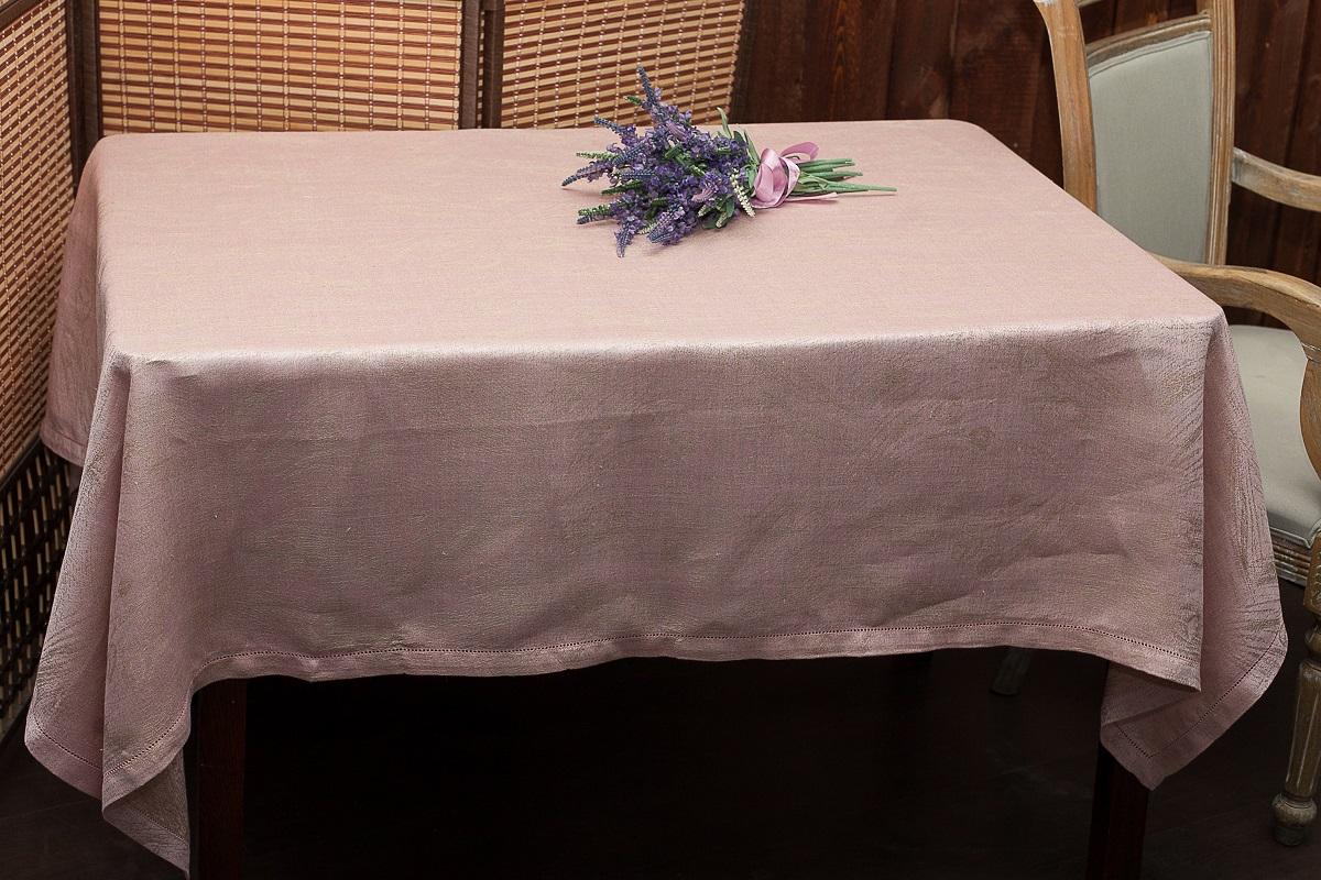 Скатерть Гаврилов-Ямский Лен, прямоугольная, цвет: розово-лиловый, 140 x 180 см скатерть гаврилов ямский лен прямоугольная цвет бирюзовый 140 х 180 см