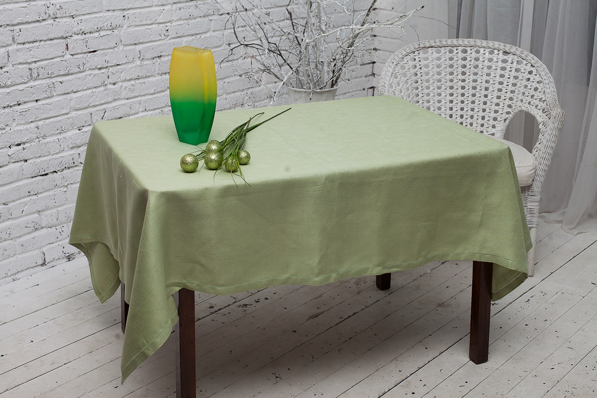 Скатерть Гаврилов-Ямский Лен, прямоугольная, цвет: светло-зеленый, 140 x 250 см скатерть гаврилов ямский лен прямоугольная цвет бирюзовый 140 х 180 см
