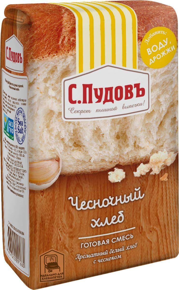 Пудовъ чесночный хлеб, 500 г пудовъ льняной хлеб 500 г