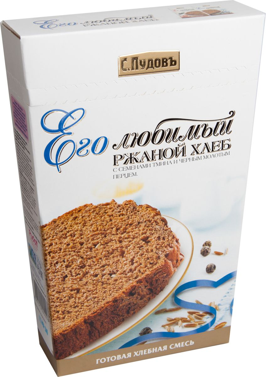 Пудовъ его любимый ржаной хлеб, 500 г, С.Пудовъ