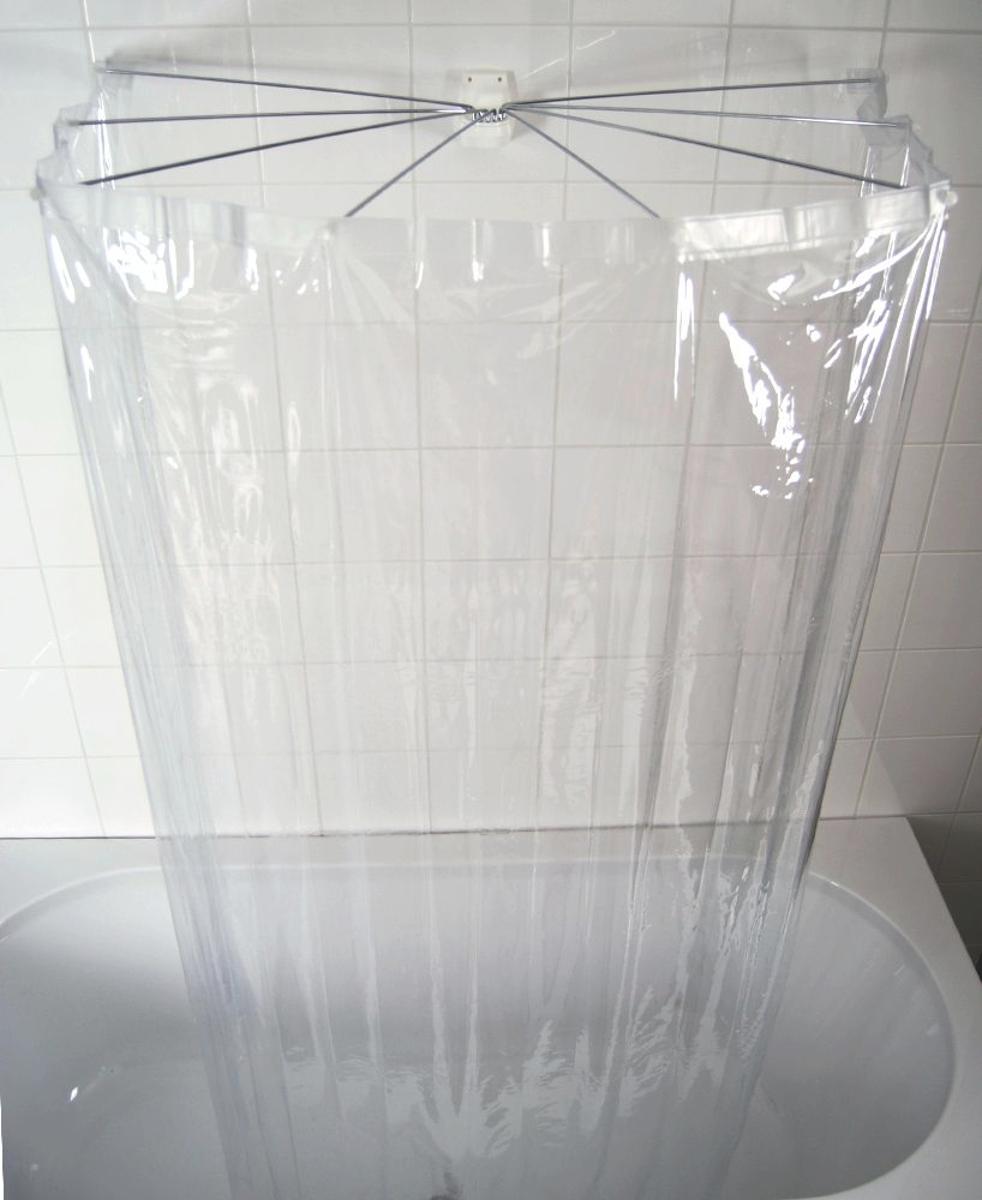 Набор для ванной комнаты Ridder Ombrella, цвет: прозрачный, 2 предмета58200Набор для ванной комнаты Ridder Ombrella состоит из высококачественной немецкой штанги для душа и пластиковой шторки. Для предотвращения царапин на штангу из спрессованного алюминиянаносится специальное покрытие. Размер штанги: 100 х 70 см. Размер текстильной шторки: 210 х 180 см.Длина спицы: 50 см.