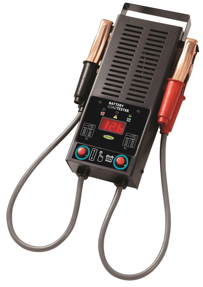Электронная нагрузочная вилка Ring, цифровой дисплей, 12ВRBA15Прибор предназначен для тестирование аккумулятора, генератора и стартера. Полностью автоматическое тестирование. Совместим с аккумуляторами 12В. Ток под нагрузкой 125 А. Цифровой светодиодный дисплей. Выбираемая емкость аккумулятора. Прочный металлический корпус, аккумуляторные зажимы большой емкости, защита от обратной полярности. Рекомендуемый диапазон аккумулятора: 300-1000 CCA.