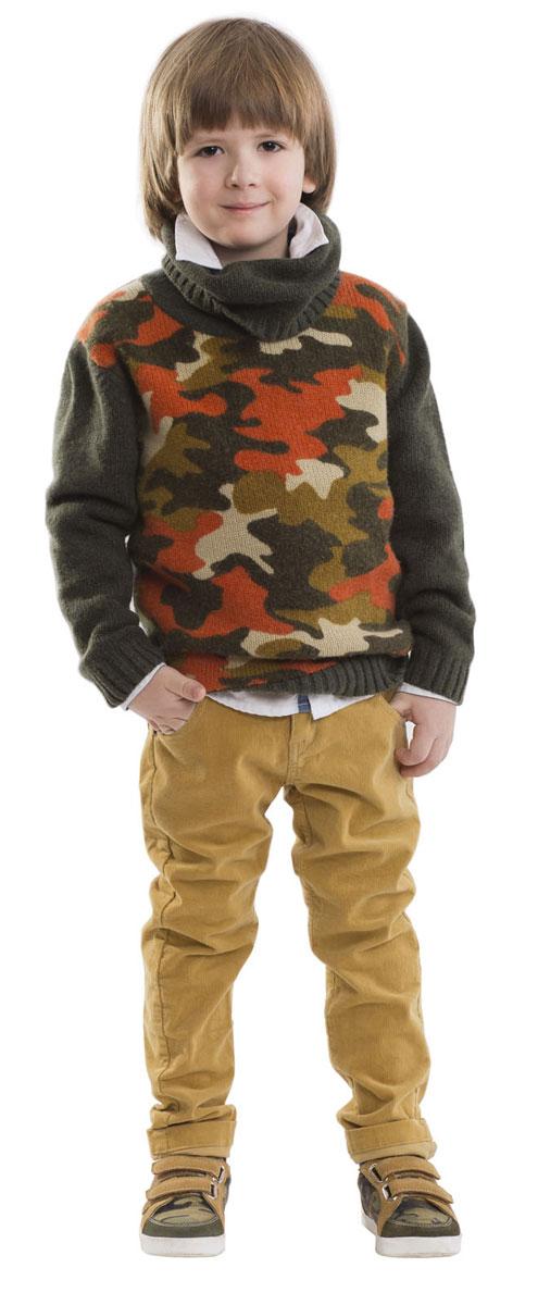 Брюки для мальчика Gulliver, цвет: бежевый. 21604BMC6302. Размер 104 брюки для мальчика gulliver цвет серый 217gsbc6303 размер 170