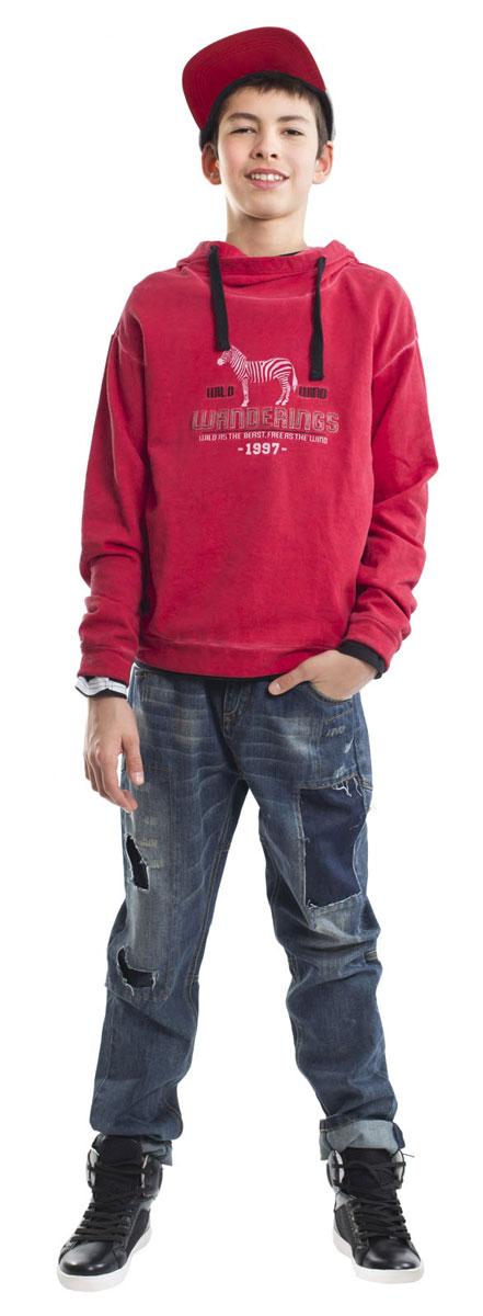 Джинсы для мальчика Gulliver, цвет: темно-синий джинс. 21612BTC6303. Размер 16421612BTC6303Модные джинсы для мальчика с актуальными потертостями, заплатками и варкой сделают образ подростка ярким и современным! Джинсы, ставшие классикой повседневного стиля - идеальный вариант для осенней погоды. Удобные и практичные, джинсы из хлопка гарантируют комфорт и свободу движений.