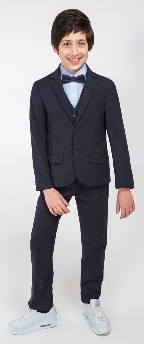 Пиджак для мальчика Acoola Edison, цвет: темно-синий. 20110130049_600. Размер 140