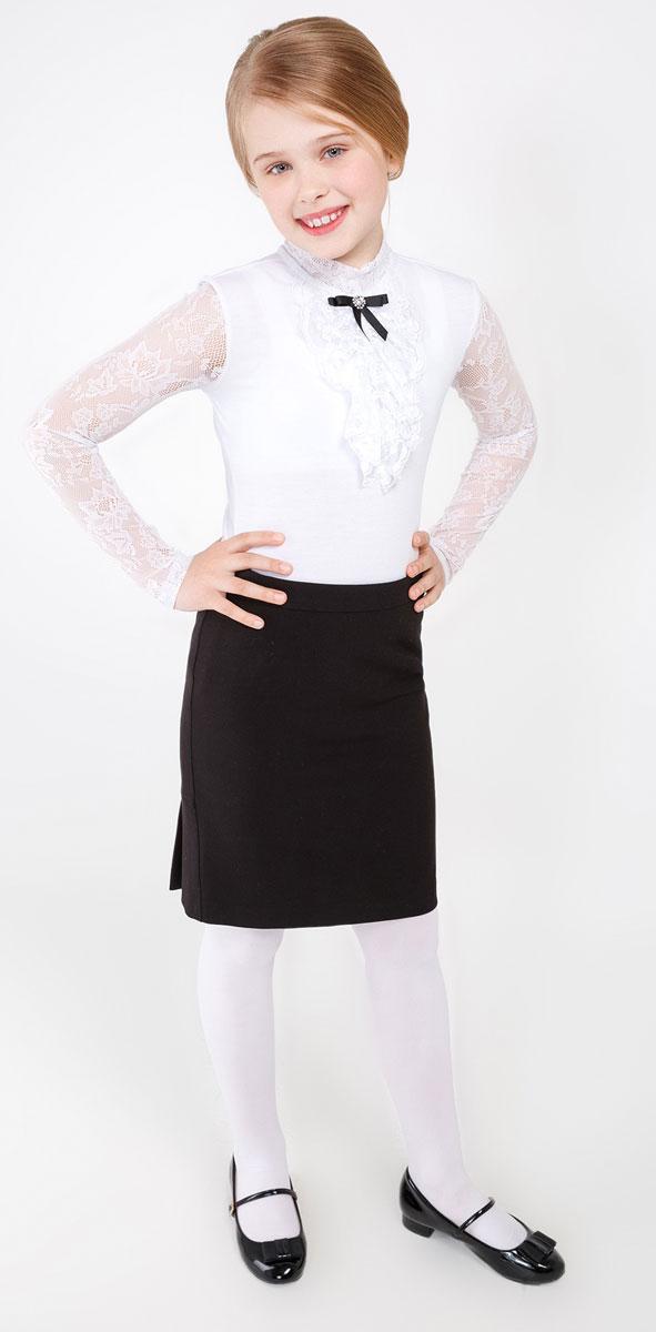 Юбка для девочки Acoola Lorentz, цвет: черный. 20210180021_100. Размер 14620210180021_100Стильная юбка для девочки Acoola Lorentz идеально подойдет вашей маленькой принцессе. Изготовлена из высококачественного материала. Юбка прямого кроя сбоку застегивается на потайную застежку-молнию. Модель сзади оформлена складочками.