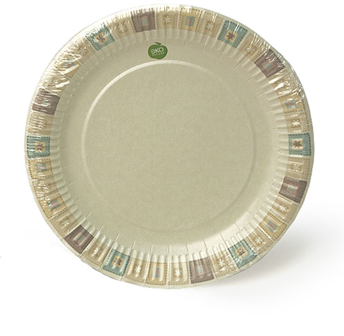 Набор тарелок Paterra Нарядные, бумажные, диаметр 23 см, 6 шт