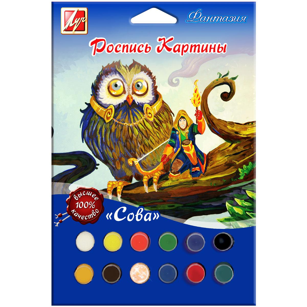Луч Набор для росписи картины по номерам Сова
