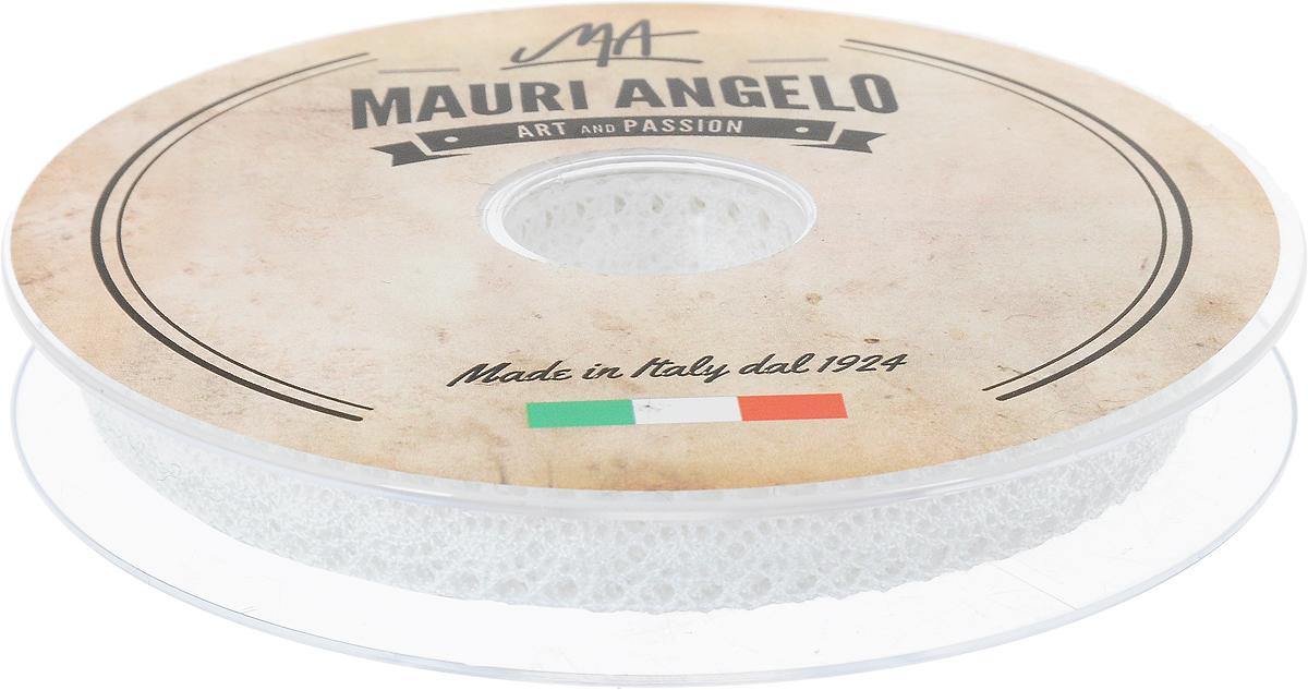 Лента кружевная Mauri Angelo, цвет: белый, 1,3 см х 20 мMR1059Декоративная кружевная лента Mauri Angelo выполнена из высококачественного хлопка. Кружево применяется для отделки одежды, постельного белья, а также в оформлении интерьера, декоративных панно, скатертей, тюлей, покрывал. Главные особенности кружева - воздушность, тонкость, эластичность, узорность.Такая лента станет незаменимым элементом в создании рукотворного шедевра.