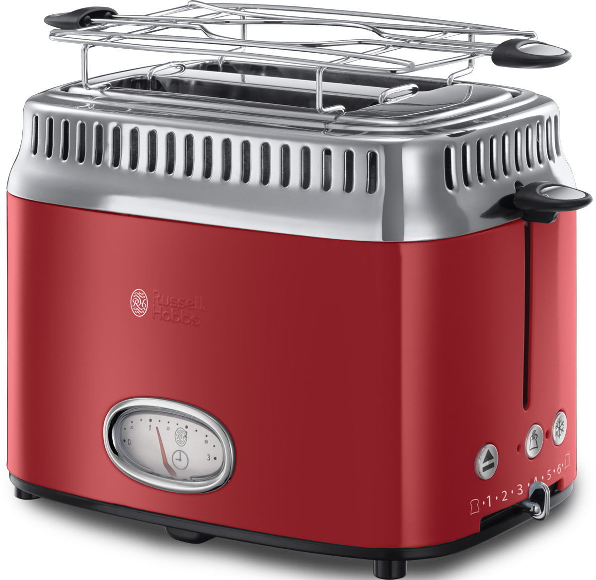 Russell Hobbs Retro, Ribbon Red тостер