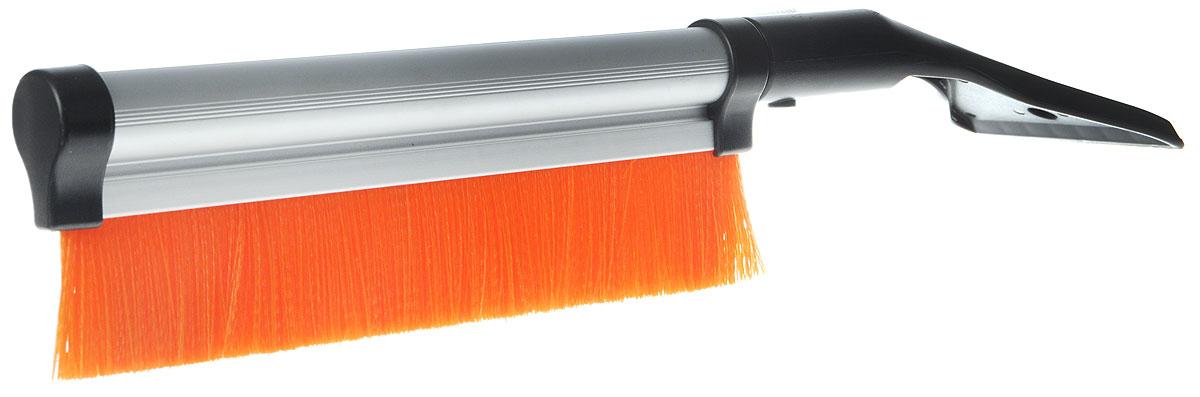 Щетка для снега Sapfire, со скребком и телескопической ручкой, цвет: оранжевый, черный, 42-64 смSBU-0411_оранжевый, черныйЩетка Sapfire предназначена для удаления снега и льда. Имеет легкую поворотную телескопическую рукоятку из прочного алюминиевого сплава. Удобная выдвижная рукоятка облегчает процесс чистки крыши автомобиля. Мягкая щетина, изготовленная из прочного полимера, бережно удаляет снег, не царапая лакокрасочное покрытие. Щетка оснащена мощным скребком с зубьями для толстого льда.Ширина скребка: 9,5 см.Длина рабочей части щетки: 25,5 см.Максимальная длина щетки: 64 см.Минимальная длина щетки: 42 см.