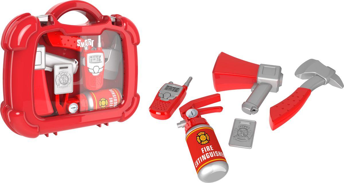 HTI Игровой набор Пожарный в кейсе рации
