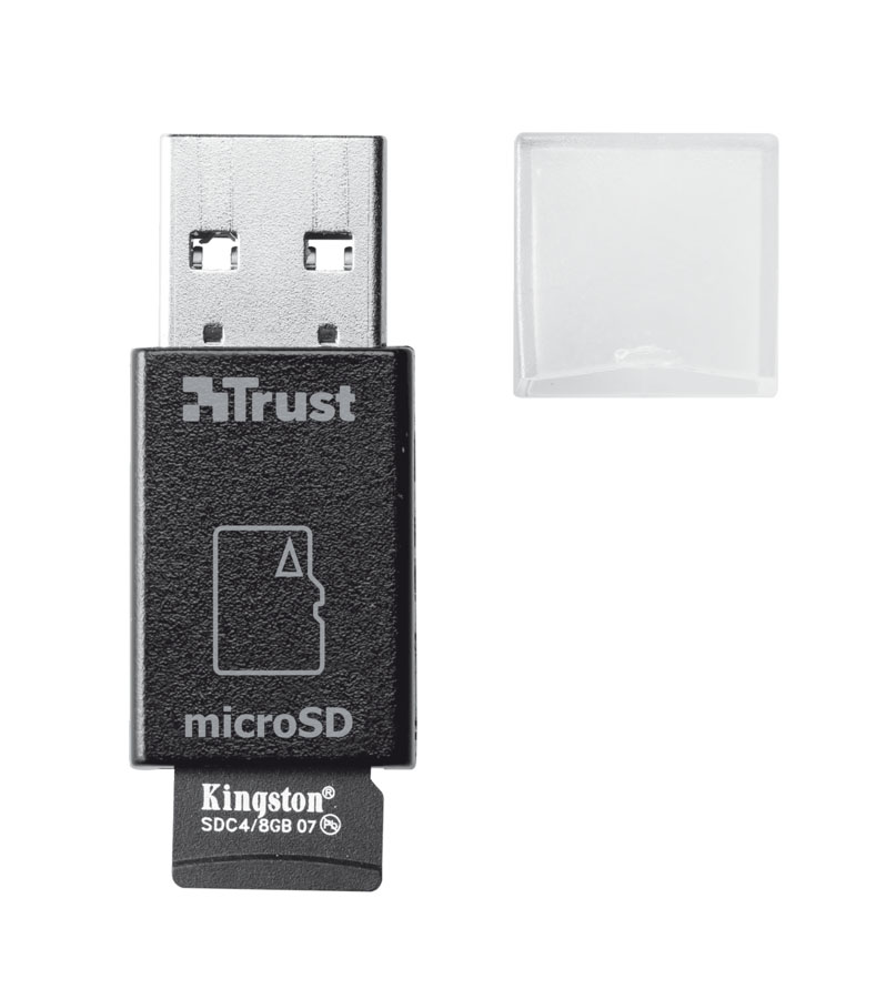 Trust High Speed Micro-SD Card Reader USB 3.0, Black картридер карт ридер elari smartcable usb2 0 для карт micro sd