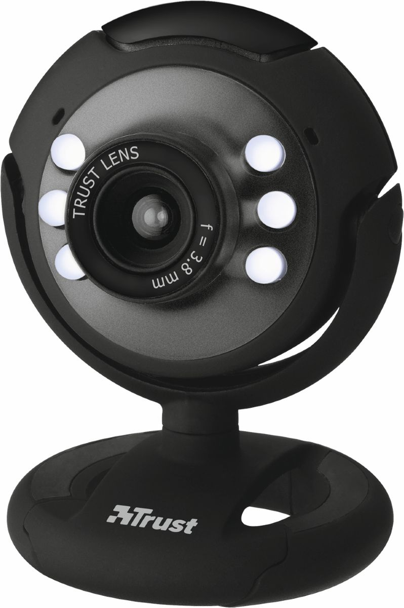 Trust SpotLight Webcam, Black web-камера