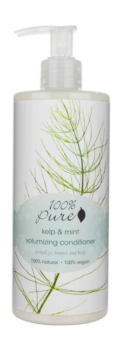 """100% Pure """"Бурая водоросль Келп и Мята"""" кондиционер для объема волос, 390 мл"""
