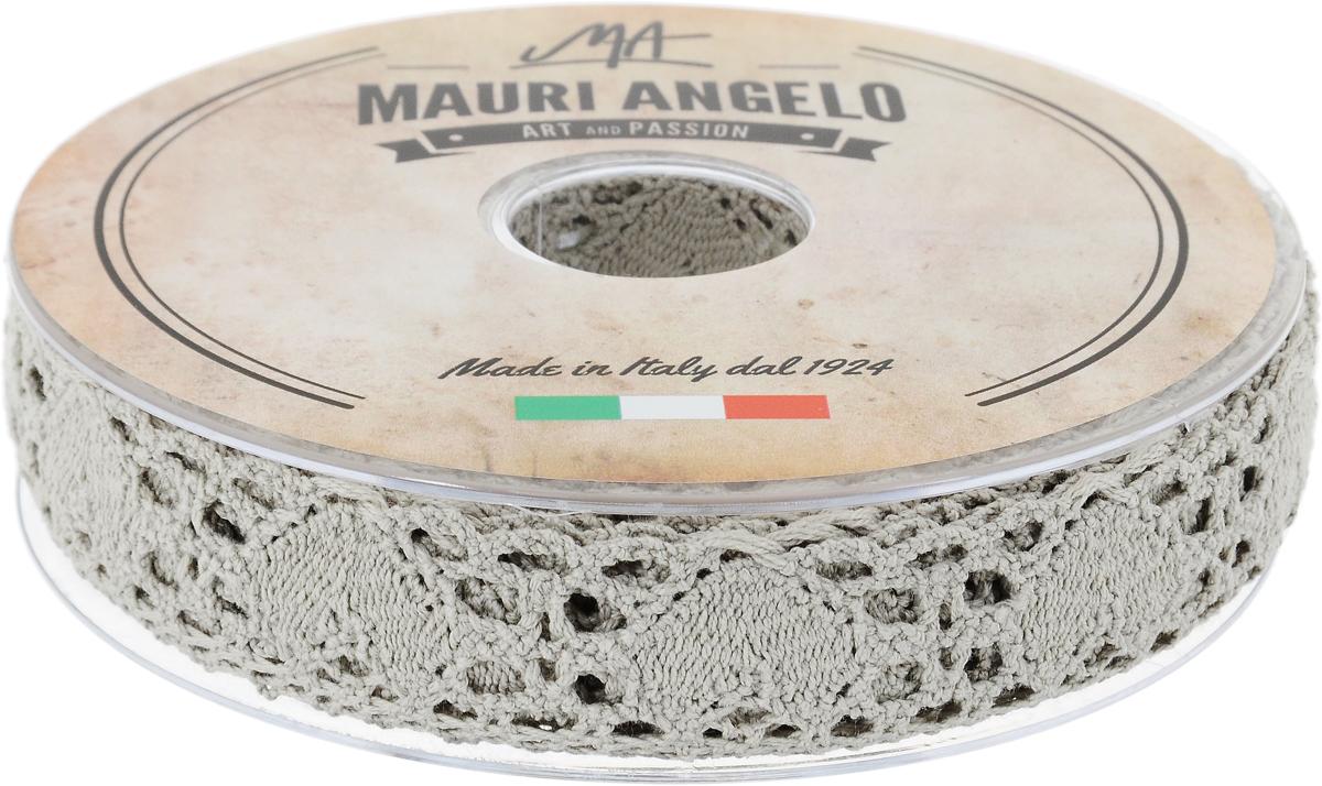Лента кружевная Mauri Angelo, цвет: серый, 2,7 см х 10 мMR3493/PG_серыйДекоративная кружевная лента Mauri Angelo - текстильное изделие без тканой основы, в котором ажурный орнамент и изображения образуются в результате переплетения нитей. Кружево применяется для отделки одежды, белья в виде окаймления или вставок, а также в оформлении интерьера, декоративных панно, скатертей, тюлей, покрывал. Главные особенности кружева - воздушность, тонкость, эластичность, узорность.Декоративная кружевная лента Mauri Angelo станет незаменимым элементом в создании рукотворного шедевра. Ширина: 2,7 см.Длина: 10 м.