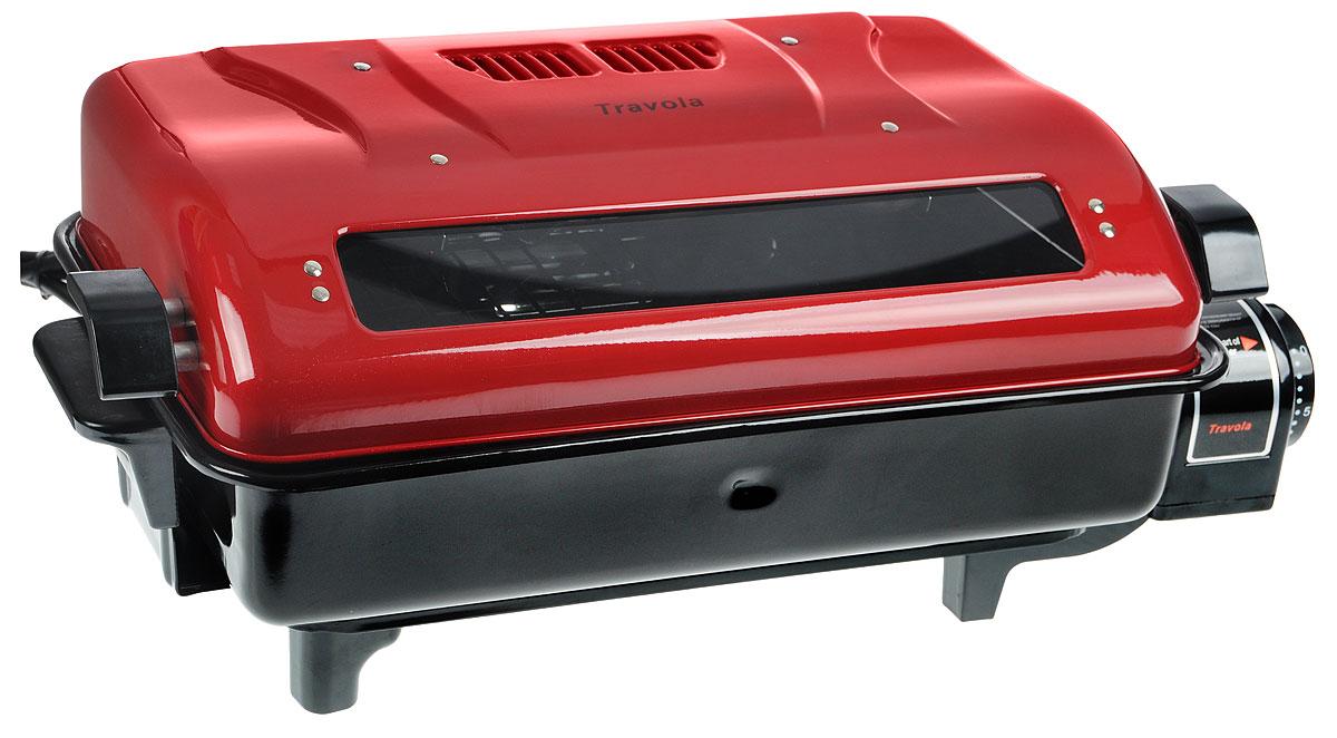 Travola KYS-368B электрогрильKYS-368BTravola KYS-368B - мульти-гриль для рыбы, птицы и мяса. Прибор имеет верхний и нижний нагрев, что позволяет с легкостью готовить мясо сразу со всех сторон. Таймер с функцией отключения позволит задать время приготовления определенного вида блюда. Антипригарное покрытие и съемный поддон для жира облегчат уход и чистку прибора. * Победитель номинации «Лучшая собственная торговая марка в сегменте ONLINE»Премия PRIVATE LABEL AWARDS (by IPLS) —международная премия в области собственных торговых марок, созданная компанией Reed Exhibitions в рамках выставки «Собственная Торговая Марка» (IPLS) 2016 с целью поощрения розничных сетей, а также производителей продовольственных и непродовольственных товаров за их вклад в развитие качественных товаров private label, которые способствуют росту уровня покупательского доверия в России и СНГ.