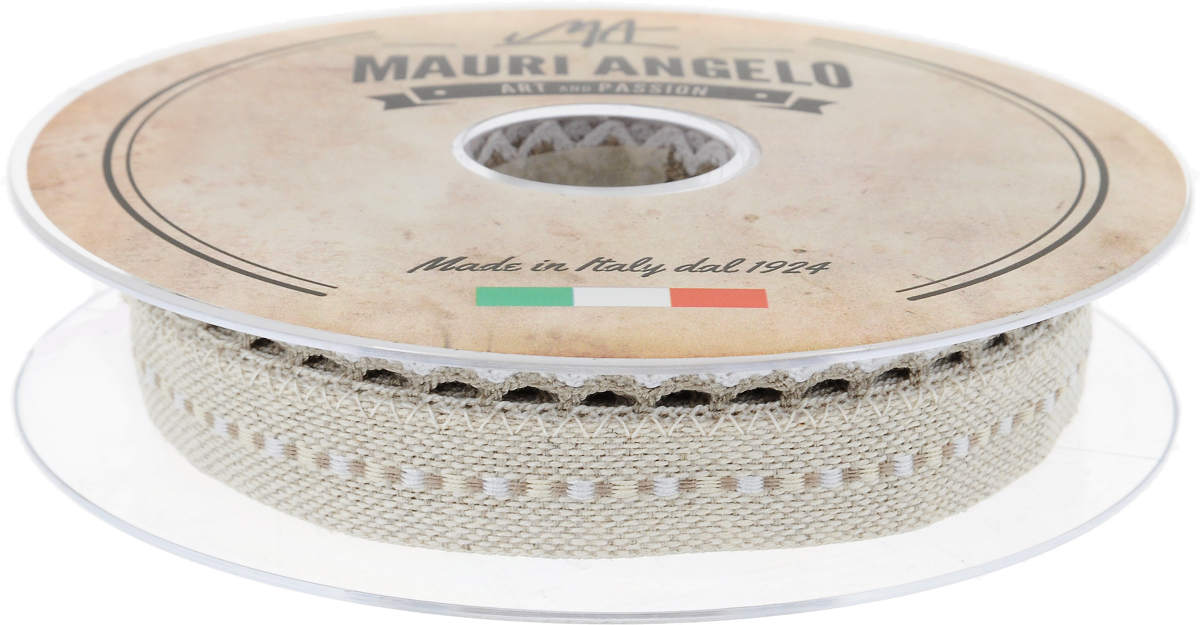 Лента декоративная Mauri Angelo, цвет: бежевый, белый, 2,4 см х 10 мMR720ZTRA/1Декоративная лента Mauri Angelo - текстильное изделие без тканой основы. Одна сторона декорирована кружевами. Лента применяется для отделки одежды, белья в виде окаймления или вставок, а также в оформлении интерьера, декоративных панно, скатертей, тюлей, покрывал.Декоративная лента Mauri Angelo станет незаменимым элементом в создании рукотворного шедевра.