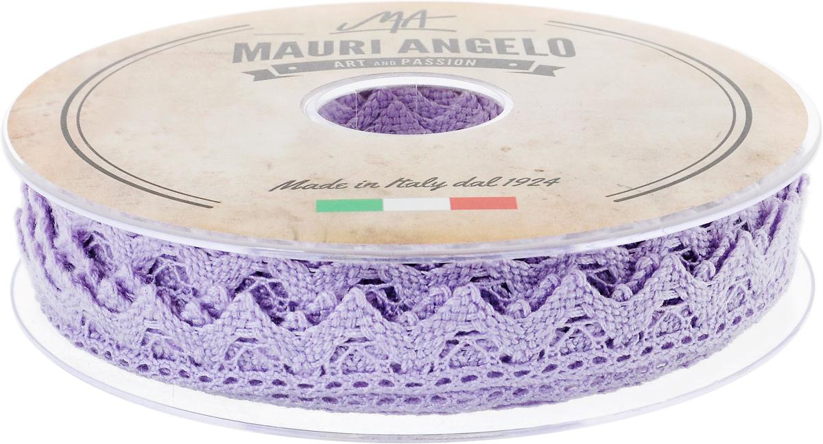 Лента кружевная Mauri Angelo, цвет: сиреневый, 1,8 см х 20 мMR2710/PL/368Декоративная кружевная лента Mauri Angelo выполнена из высококачественного хлопка. Кружево применяется для отделки одежды, постельного белья, а также в оформлении интерьера, декоративных панно, скатертей, тюлей, покрывал. Главные особенности кружева - воздушность, тонкость, эластичность, узорность.Такая лента станет незаменимым элементом в создании рукотворного шедевра.