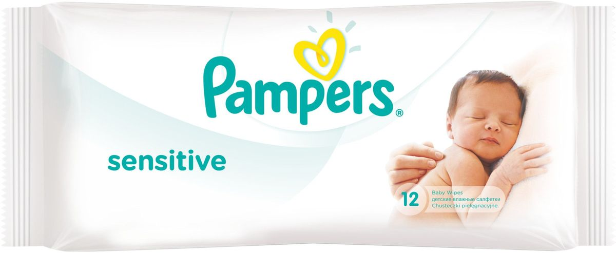 Pampers Детские влажные салфетки Sensitive 12 шт