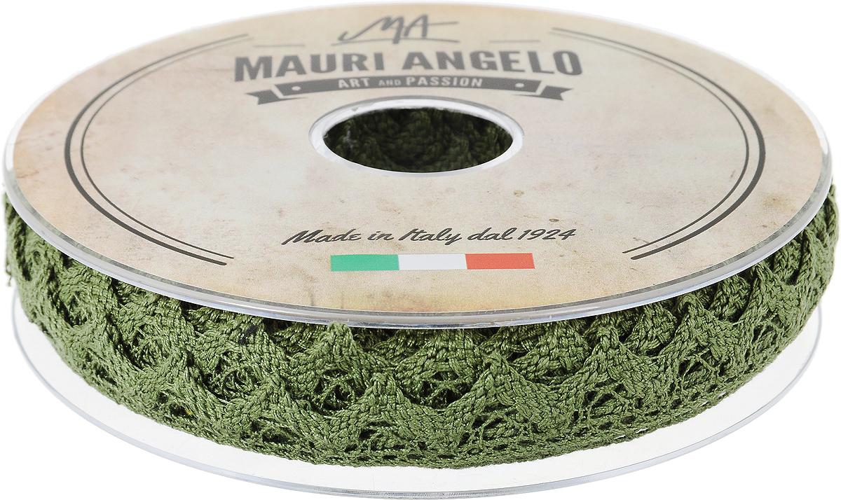 Лента кружевная Mauri Angelo, цвет: болотный, 1,8 см х 20 мMR2710/049_болотныйДекоративная кружевная лента Mauri Angelo - текстильное изделие без тканой основы, в котором ажурный орнамент и изображения образуются в результате переплетения нитей. Кружево применяется для отделки одежды, белья в виде окаймления или вставок, а также в оформлении интерьера, декоративных панно, скатертей, тюлей, покрывал. Главные особенности кружева - воздушность, тонкость, эластичность, узорность.Декоративная кружевная лента Mauri Angelo станет незаменимым элементом в создании рукотворного шедевра. Ширина: 1,8 см.Длина: 20 м.