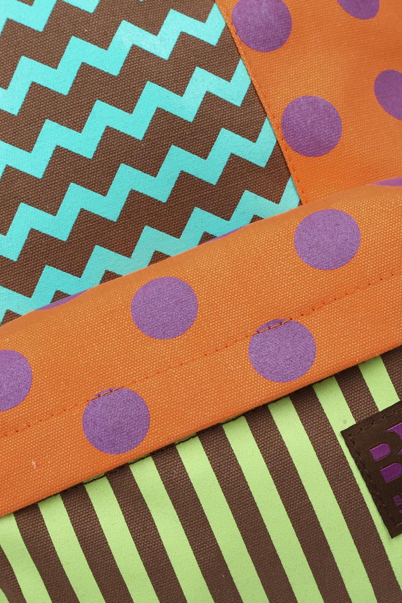 Рюкзак городской женский Grizzly, цвет:  коричневый, мультиколор, 16 л.  RD-750-3/5 Grizzly