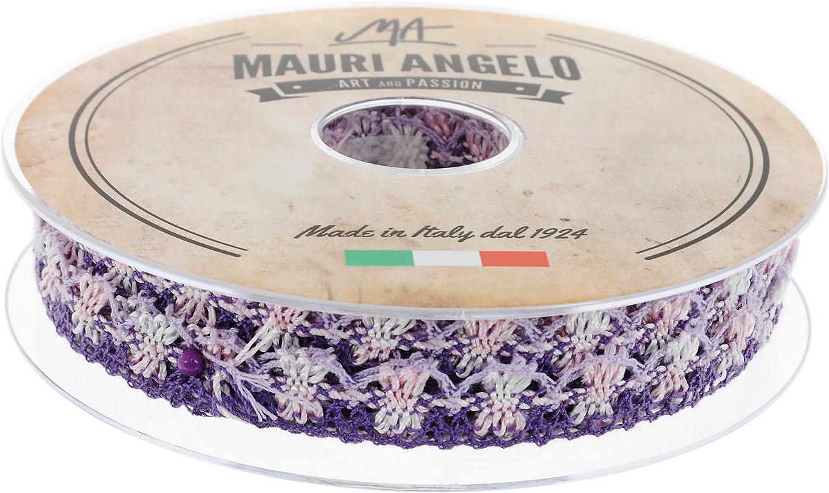 Лента кружевная Mauri Angelo, цвет: фиолетовый, розовый, сиреневый, 1,8 см х 20 м. MR8849/MC/6MR8849/MC/6_фиолетовый, розовый, сиреневыйДекоративная кружевная лента Mauri Angelo - текстильное изделие без тканой основы, в котором ажурный орнамент и изображения образуются в результате переплетения нитей. Кружево применяется для отделки одежды, белья в виде окаймления или вставок, а также в оформлении интерьера, декоративных панно, скатертей, тюлей, покрывал. Главные особенности кружева - воздушность, тонкость, эластичность, узорность.Декоративная кружевная лента Mauri Angelo станет незаменимым элементом в создании рукотворного шедевра. Ширина: 1,8 см.Длина: 20 м.