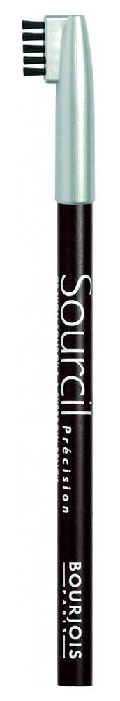 Bourjois контурный карандаш для бровей sourcil precision Тон 08 brun brunette 1 мл29101344008Брови играют решающую роль в характере взгляда. Плотная текстура карандаша позволяет наполнить брови красивым, натуральным цветом. Идеальная щеточка придает бровям безупречный вид. Карандаш Sourcil Precision не растекается и позволяет при желании изменить форму брови.