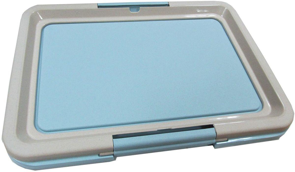 Туалет-лоток OUT!, малый, с фиксатором, цвет: голубой, 47 х 35 х 3,5 см1889Туалет-лоток OUT!, изготовленный из нетоксичного пластика, предназначен для взрослых собак и щенков. Гигиеническая пелёнка помещается под решетку, которая удерживается боковыми фиксаторами. Туалет легко моется водой. Размер туалета: 64 х 48 х 3,5 см.
