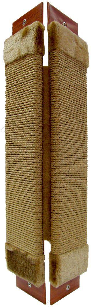 Когтеточка угловая Неженка джутовая, с кошачьей мятой, 61 х 24 см. 7164
