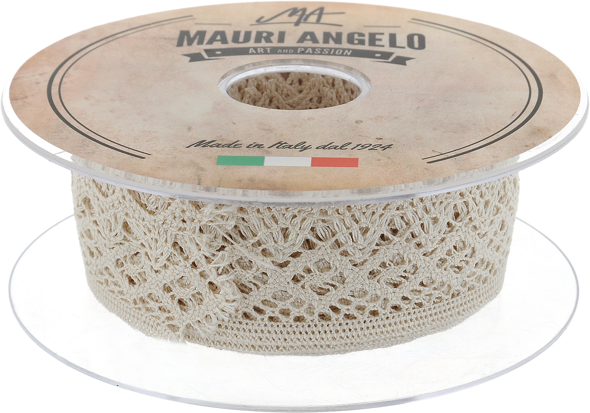 Лента кружевная Mauri Angelo, цвет: бежевый, 4,1 см х 10 мMR3139/E_бежевыйДекоративная кружевная лента Mauri Angelo - текстильное изделие без тканой основы, в котором ажурный орнамент и изображения образуются в результате переплетения нитей. Кружево применяется для отделки одежды, белья в виде окаймления или вставок, а также в оформлении интерьера, декоративных панно, скатертей, тюлей, покрывал. Главные особенности кружева - воздушность, тонкость, эластичность, узорность.Декоративная кружевная лента Mauri Angelo станет незаменимым элементом в создании рукотворного шедевра. Ширина: 4,1 см.Длина: 10 м.
