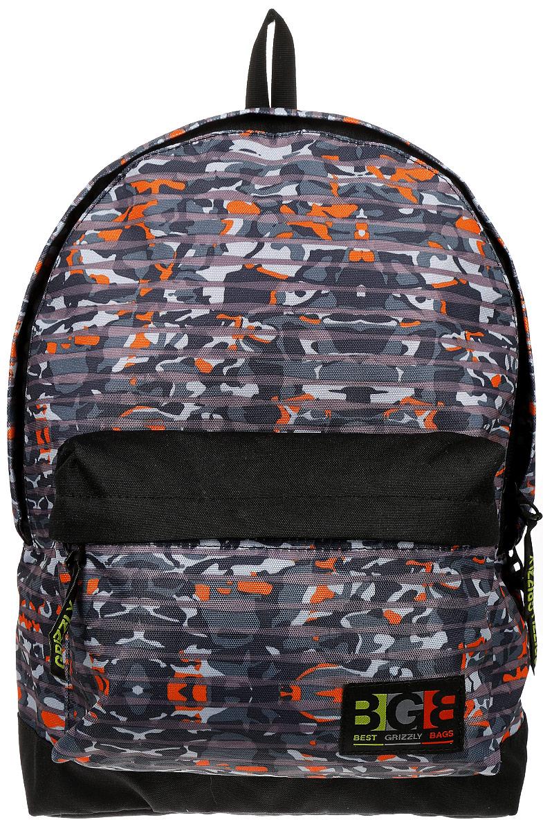 Рюкзак городской Grizzly, цвет: черный, темно-серый. 18 л. RU-704-4/6