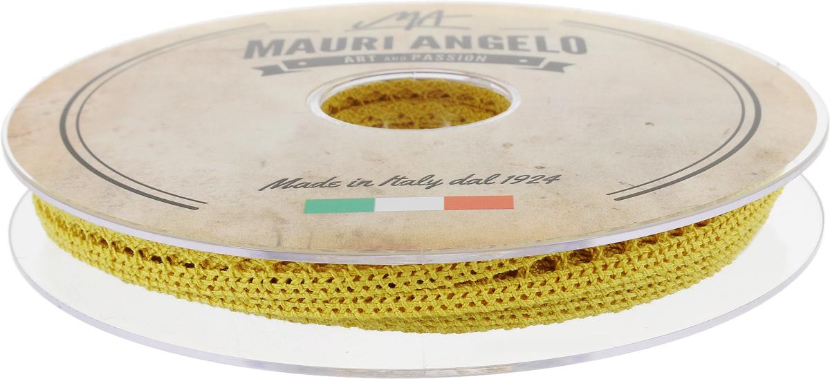 Лента кружевная Mauri Angelo, цвет: желтый, 0,9 см х 20 мMR1096/029_желтыйДекоративная кружевная лента Mauri Angelo - текстильное изделие без тканой основы, в котором ажурный орнамент и изображения образуются в результате переплетения нитей. Кружево применяется для отделки одежды, белья в виде окаймления или вставок, а также в оформлении интерьера, декоративных панно, скатертей, тюлей, покрывал. Главные особенности кружева - воздушность, тонкость, эластичность, узорность.Декоративная кружевная лента Mauri Angelo станет незаменимым элементом в создании рукотворного шедевра. Ширина: 0,9 см.Длина: 20 м.