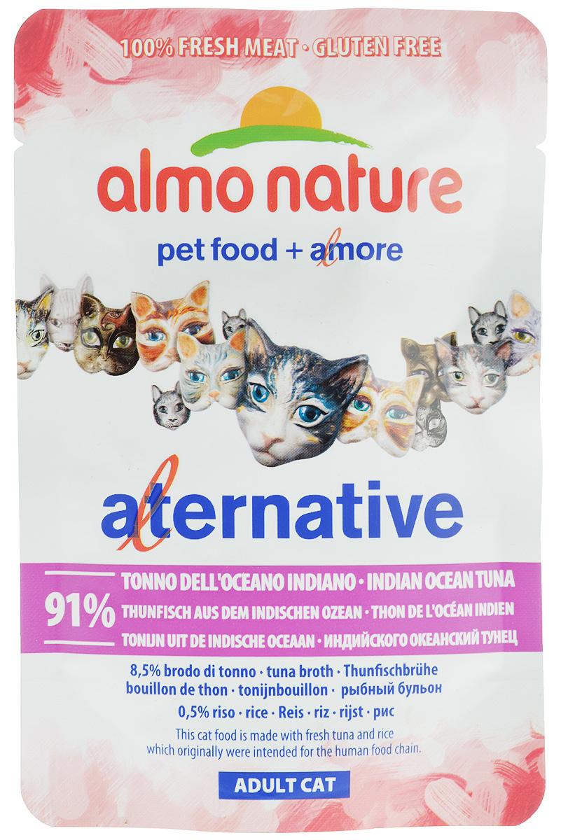 Консервы Almo Nature Alternative для кошек, с индийско-океанским тунцом, 55 г almo nature almo nature alternative 170 chicken