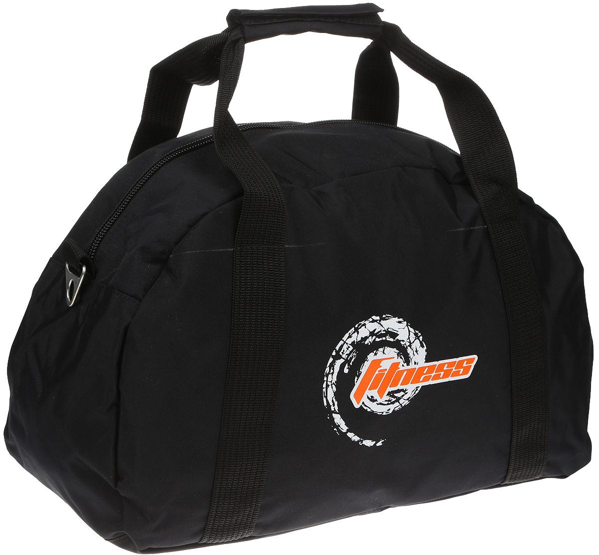Сумка спортивная Polar, цвет: черный, 20 л. 59975997Спортивная сумка Polar выполнена из высококачественного плотного полиэстера и оформлена фирменным принтом. Сумка оснащена двумяудобными ручками и съемным плечевым ремнем, длина которого регулируетсяс помощью пряжки. Также сумка оснащена пластиковыминожками, которые предотвратят повреждение дна сумки. На тыльной стороне расположен вшитый карман на молнии. На боковой сторонеимеется небольшой карман на молнии. Внутри расположено главное вместительное отделение. Изделие закрывается на застежку-молнию.