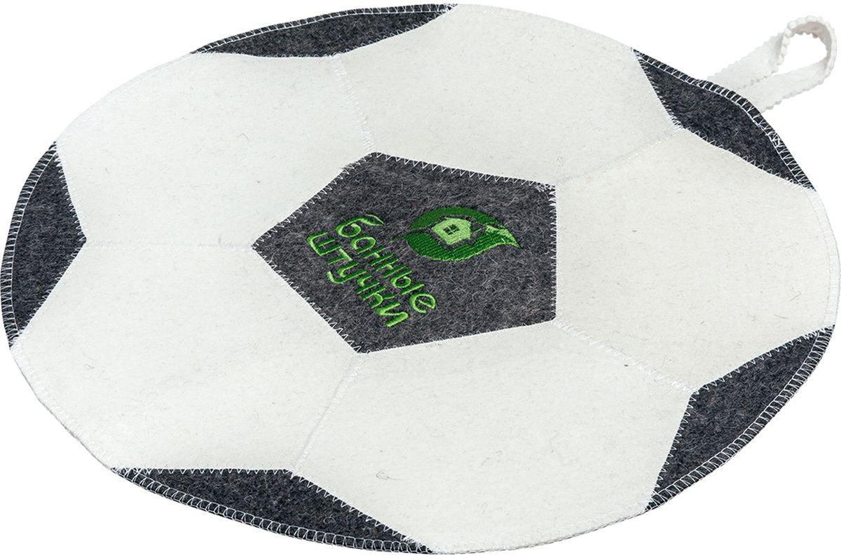 Коврик для бани и сауны Банные штучки Футбольный мяч, 45 см х 45 см бани