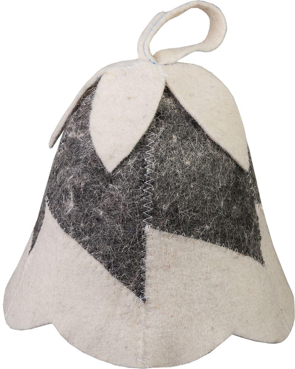 Шапка для бани и сауны Hot Pot Колокольчик41187Шапка для бани и сауны Hot Pot — это необходимый аксессуар при посещении парной. Такая шапка защитит от головокружения и перегрева головы, а также предотвратит ломкость и сухость волос. Изделие замечательно впитывает влагу, хорошо сидит на голове, обеспечивает комфорт и удовольствие от отдыха в парилке. Незаменима в традиционной русской бане, также используется в финских саунах, где температура сухого воздуха может достигать 100°С. Шапка выполнена в оригинальном дизайне и дополнена петлей для подвешивания на крючок.