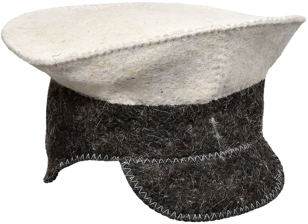 Шапка для бани и сауны Hot Pot Фуражка Комби41205Шапка для бани и сауны Hot Pot — это необходимый аксессуар при посещении парной. Такая шапка защитит от головокружения и перегрева головы, а также предотвратит ломкость и сухость волос. Изделие замечательно впитывает влагу, хорошо сидит на голове, обеспечивает комфорт и удовольствие от отдыха в парилке. Незаменима в традиционной русской бане, также используется в финских саунах, где температура сухого воздуха может достигать 100°С. Шапка выполнена в оригинальном дизайне.