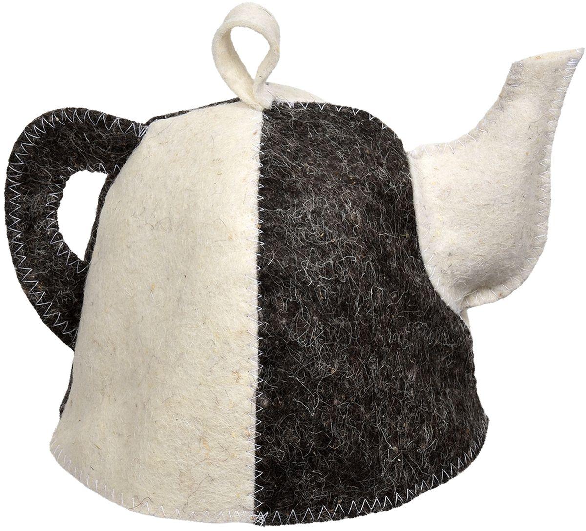 Шапка для бани и сауны Hot Pot Чайник Комби41207Шапка для бани и сауны Hot Pot — это необходимый аксессуар при посещении парной. Такая шапка защитит от головокружения и перегрева головы, а также предотвратит ломкость и сухость волос. Изделие замечательно впитывает влагу, хорошо сидит на голове, обеспечивает комфорт и удовольствие от отдыха в парилке. Незаменима в традиционной русской бане, также используется в финских саунах, где температура сухого воздуха может достигать 100°С. Шапка выполнена в оригинальном дизайне и дополнена петлей для подвешивания на крючок.