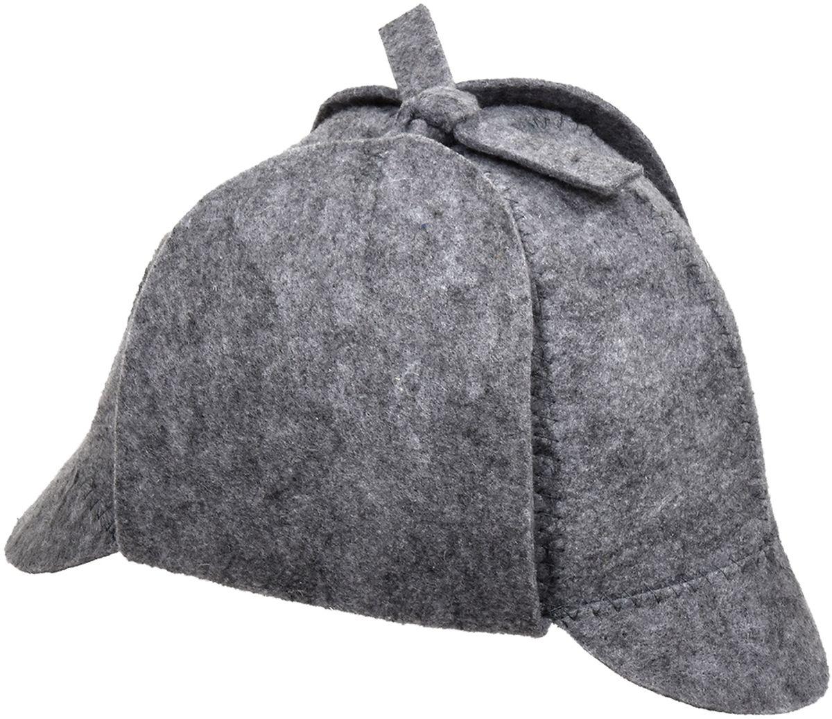 Шапка для бани и сауны Нot Pot Шерлок41208Шапка для бани и сауны Hot Pot — это необходимый аксессуар при посещении парной. Такая шапка защитит от головокружения и перегрева головы, а также предотвратит ломкость и сухость волос. Изделие замечательно впитывает влагу, хорошо сидит на голове, обеспечивает комфорт и удовольствие от отдыха в парилке. Незаменима в традиционной русской бане, также используется в финских саунах, где температура сухого воздуха может достигать 100°С. Шапка выполнена в оригинальном дизайне.