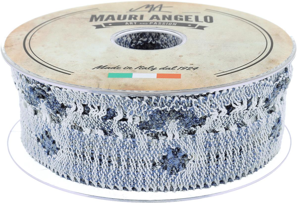 Лента кружевная Mauri Angelo, цвет: синий, серый, белый, 4,6 см х 10 мMR3509/PPT/NA3_синий, серый, белыйДекоративная кружевная лента Mauri Angelo - текстильное изделие без тканой основы, в котором ажурный орнамент и изображения образуются в результате переплетения нитей. Кружево применяется для отделки одежды, белья в виде окаймления или вставок, а также в оформлении интерьера, декоративных панно, скатертей, тюлей, покрывал. Главные особенности кружева - воздушность, тонкость, эластичность, узорность.Декоративная кружевная лента Mauri Angelo станет незаменимым элементом в создании рукотворного шедевра. Ширина: 4,6 см.Длина: 10 м.